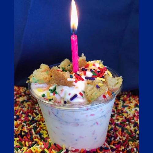 Birthday Cake Arctic Swirl National Ice Cream Month Square 2018