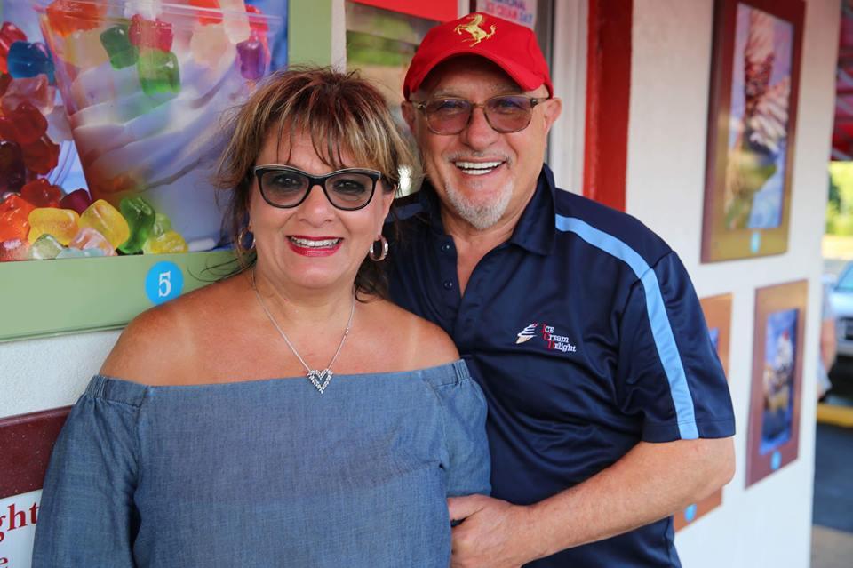 Happy Couple at Ice Cream Shop