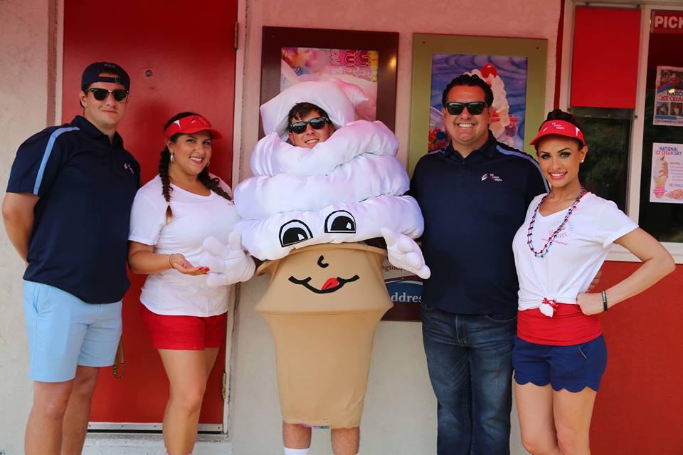 Mr Swirl Ice Cream Delight Mascot